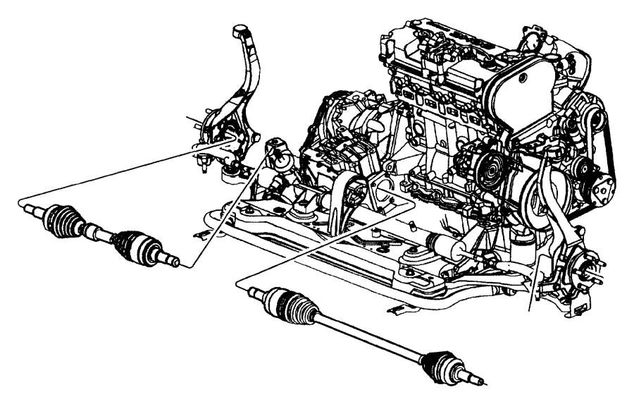 2009 Chrysler 300 Nut. Hex flange lock. Drive hub