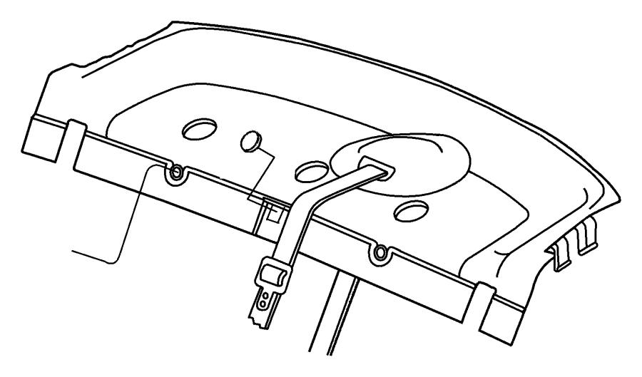 2003 Dodge Stratus Panel. Shelf. [l2], [l5]. Trim: [all