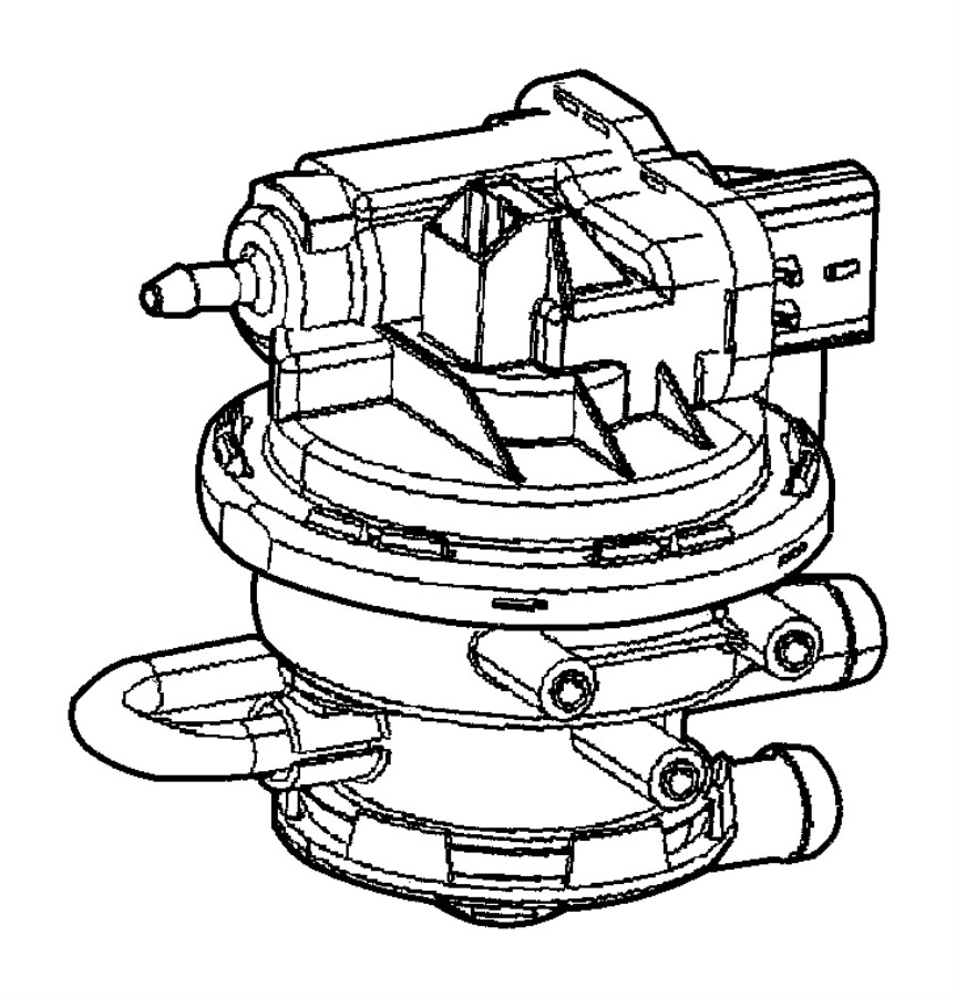 2004 Jeep Wrangler Pump. Leak detection. Mopar