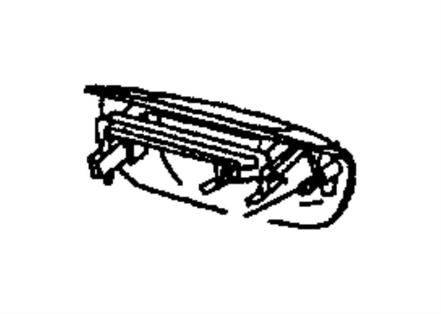 2000 Jeep Grand Cherokee Handle. Liftgate. Black, laredo