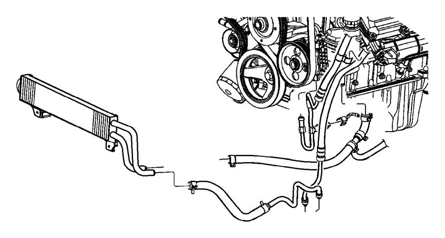 2003 Dodge Ram 1500 Hose. Power steering return. Reservoir