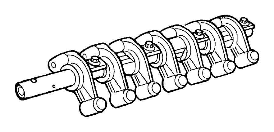 Dodge Neon Spacer. Rocker shaft. (intake), intake