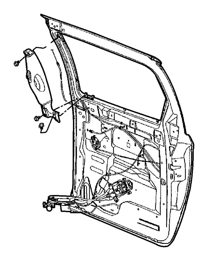 2002 Dodge Caravan Glass. Sliding door. Left. Sunscreen
