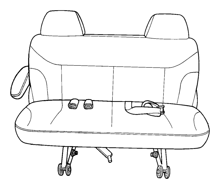 2003 Dodge Grand Caravan Cushion. Rear seat. Two passenger