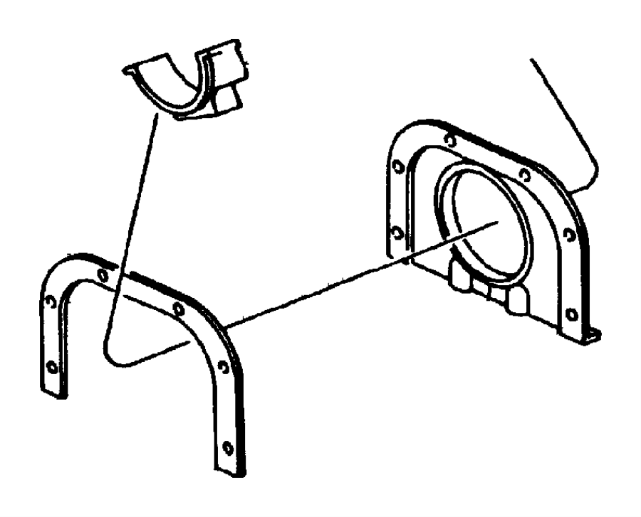 Dodge Viper Bearing package. Crankshaft. 010 u/s. [#1, 2