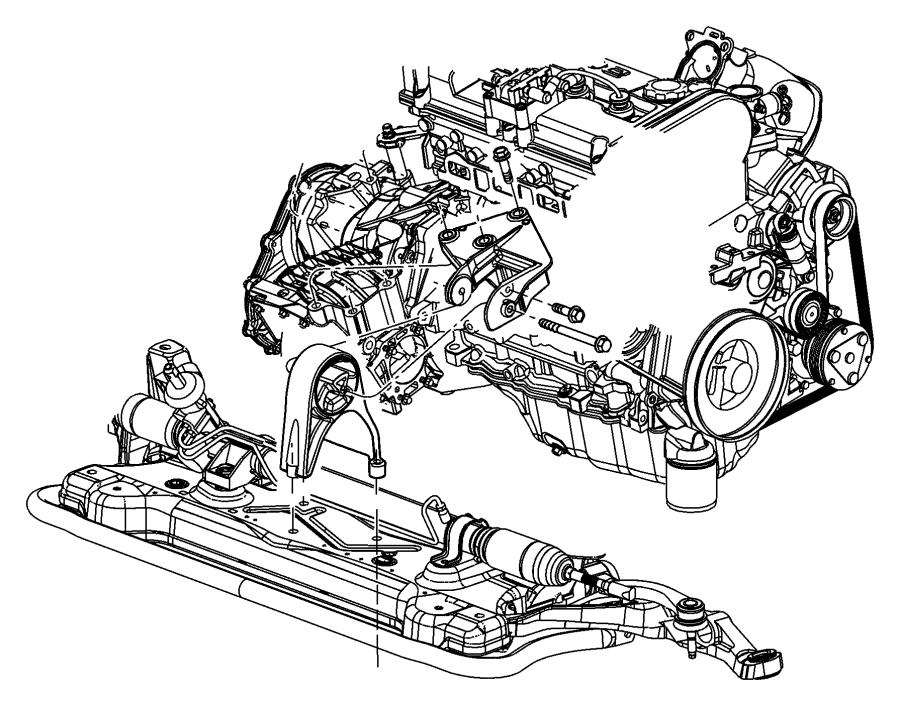 2001 Dodge Stratus Bracket. Torque reaction. Engine