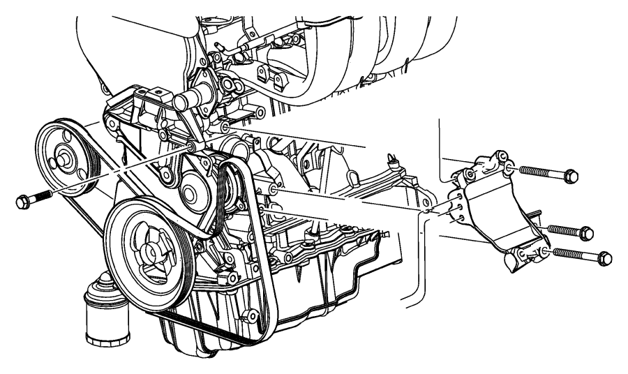 Dodge Grand Caravan Pulley. Power steering pump. (with/2