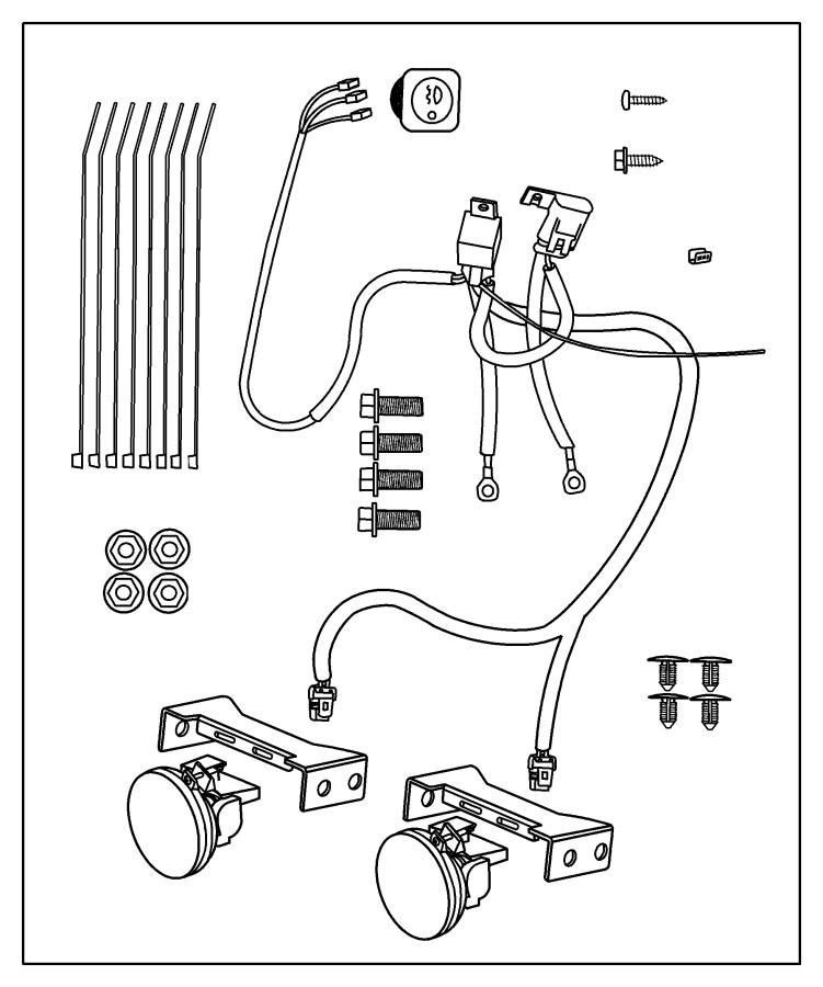 dodge ram fog light parts diagram