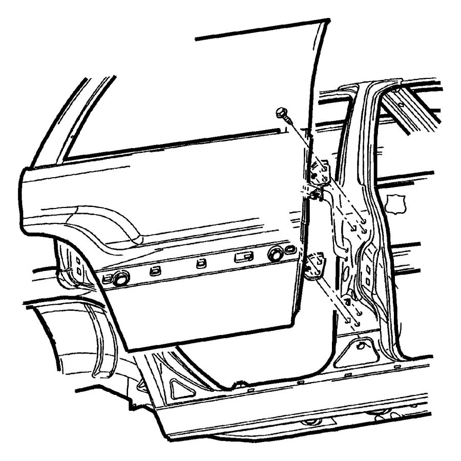 Jeep Grand Cherokee Door. Rear. Left. Hinges, body