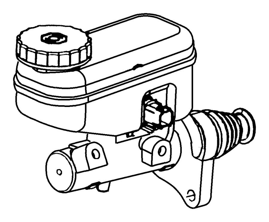 2004 Chrysler Sebring Master cylinder. Brake. [power front