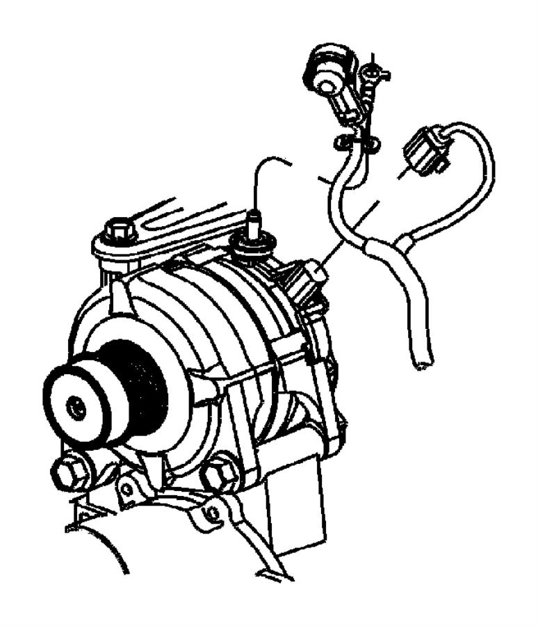 2005 Chrysler Pacifica Generator. Engine. [alternator
