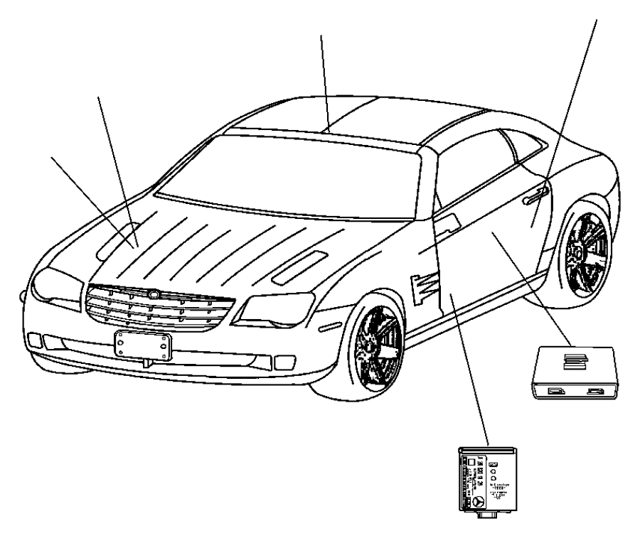 2008 Chrysler Crossfire Module. Alarm. Tow alarm sensor