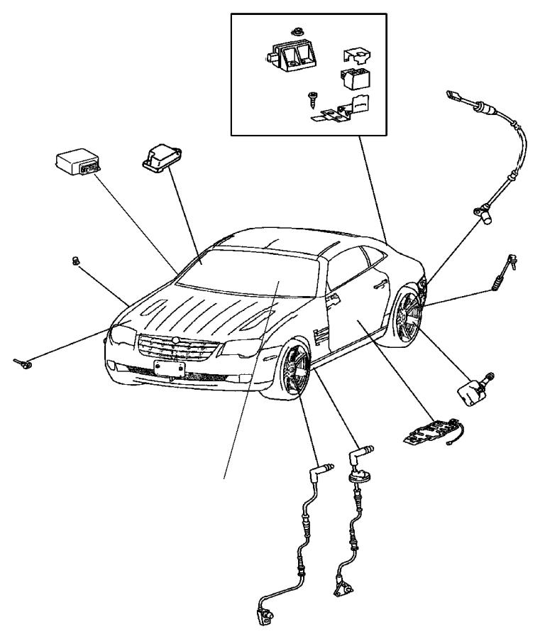 2008 Chrysler Crossfire Sensor. Air bag. [build to export