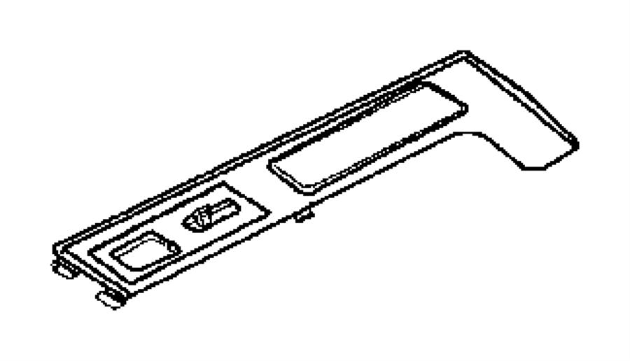 Chrysler Crossfire Bezel. Center console. Trim: [seats
