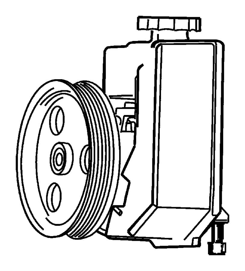 2008 Chrysler Sebring Pump. Power steering. Pinion, rack