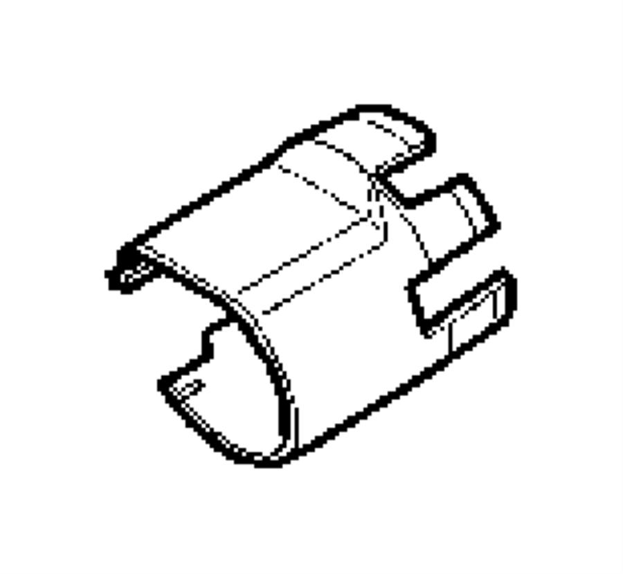 2004 Chrysler Crossfire Shroud. Steering column
