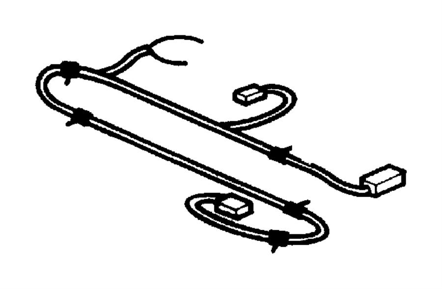 2004 Chrysler 300 Wiring. Sunroof. Trim: [all trim codes