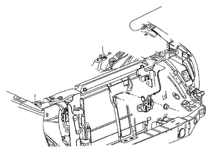 Jeep Liberty Reinforcement. Hood latch. Narrative