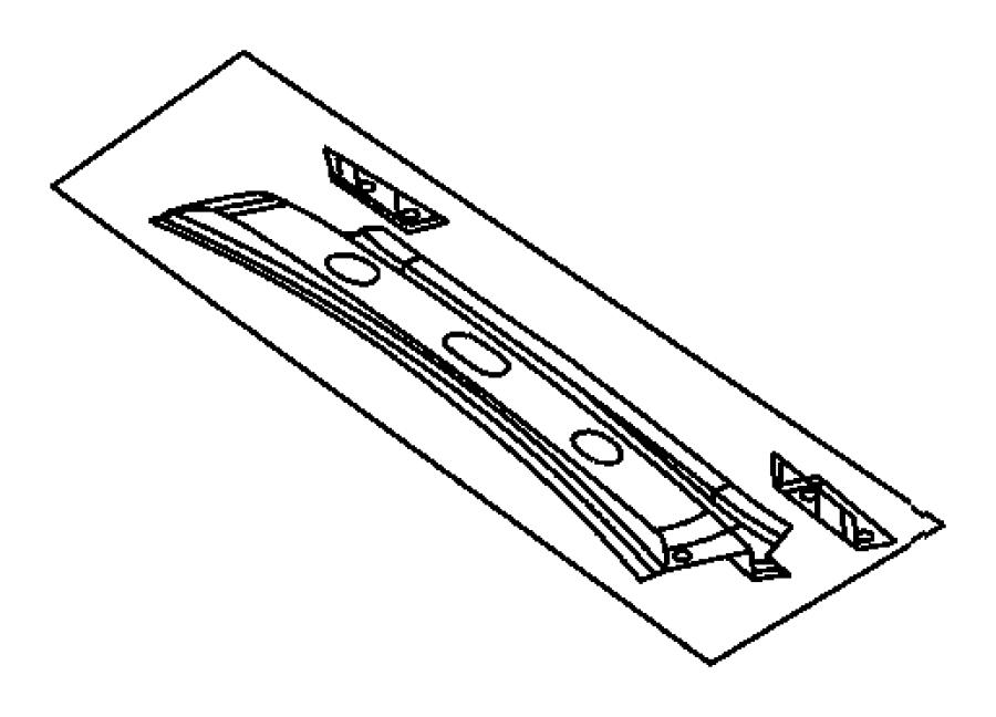 2004 Chrysler Crossfire Frame. Liftgate opening. Panel