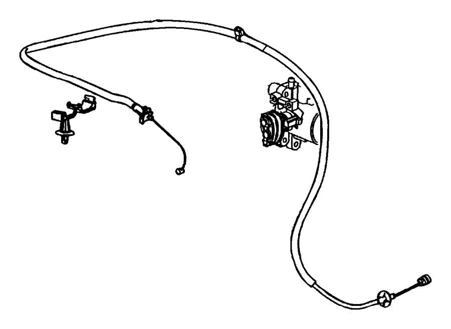 2007 Chrysler PT Cruiser Cable. Throttle control. Controls