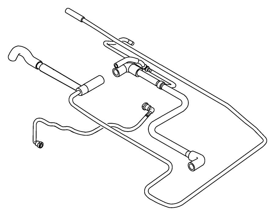 2007 Chrysler PT Cruiser Tube. Fuel vapor. Rear