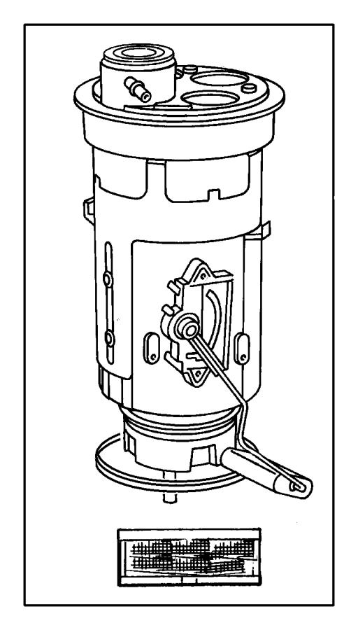 Dodge Dakota Filter kit. Fuel. Inlet. [22 gallon fuel tank