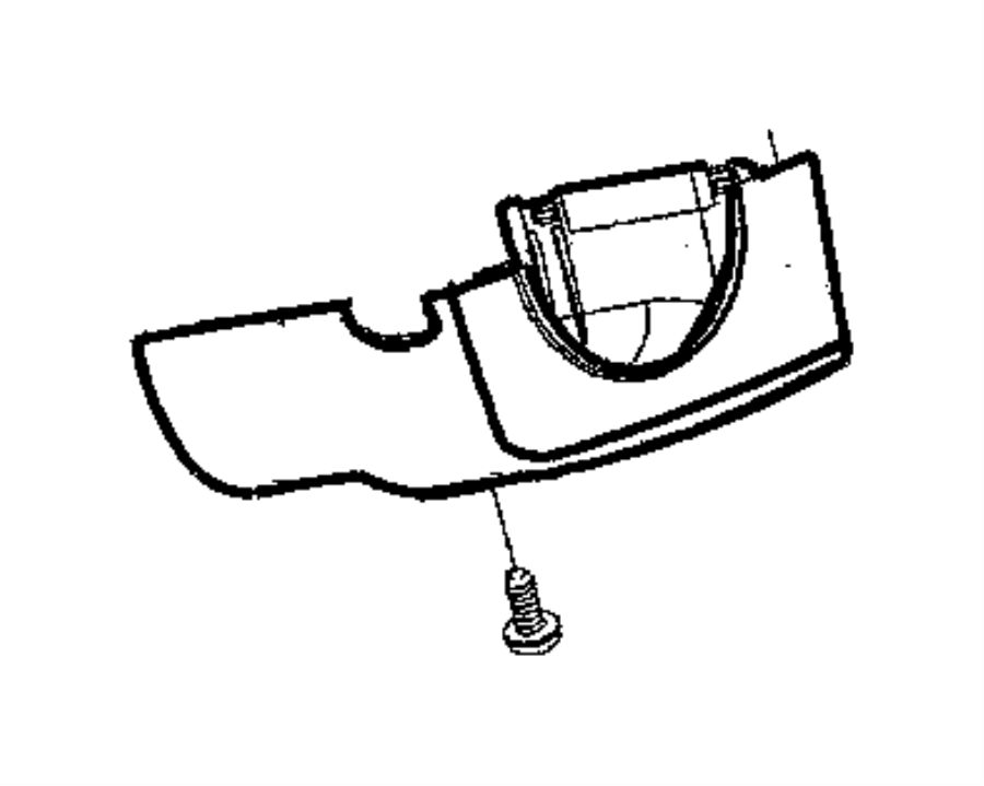 2009 Dodge Ram 2500 Shroud. Steering column. Manual