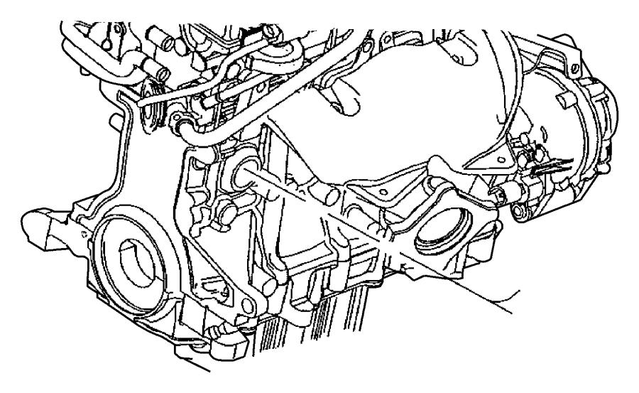 2006 Chrysler Sebring Heater. Engine block. 2.4l engine