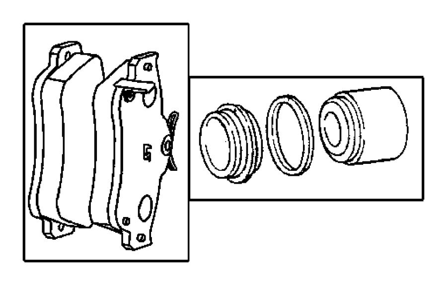 2002 Chrysler PT Cruiser Pad kit. Disc brake. Brakes, lock