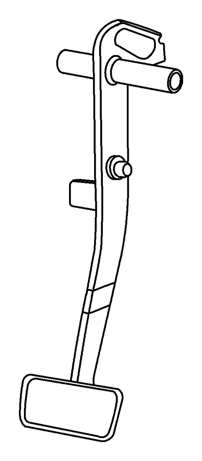 2009 Dodge NITRO Pedal. Clutch. Brake, bright, pedals