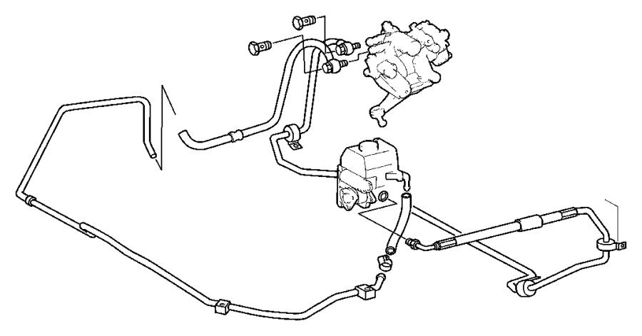 2006 Chrysler Crossfire Line. Power steering low pressure