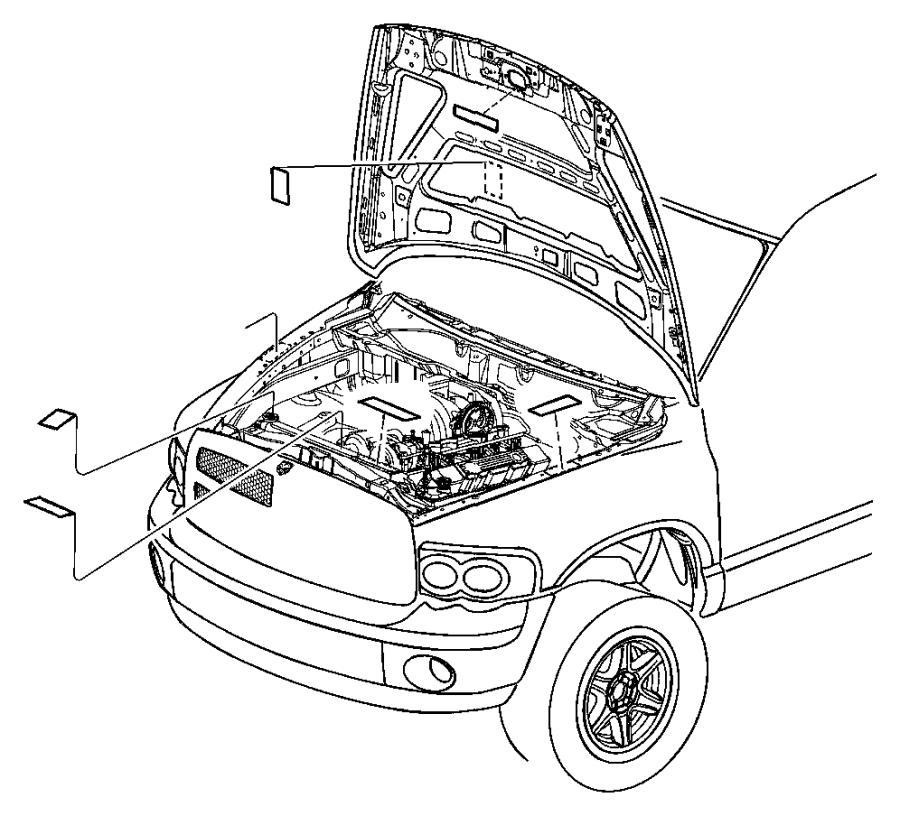 Dodge Ram 1500 Label. Emission. With [[50 state emissions