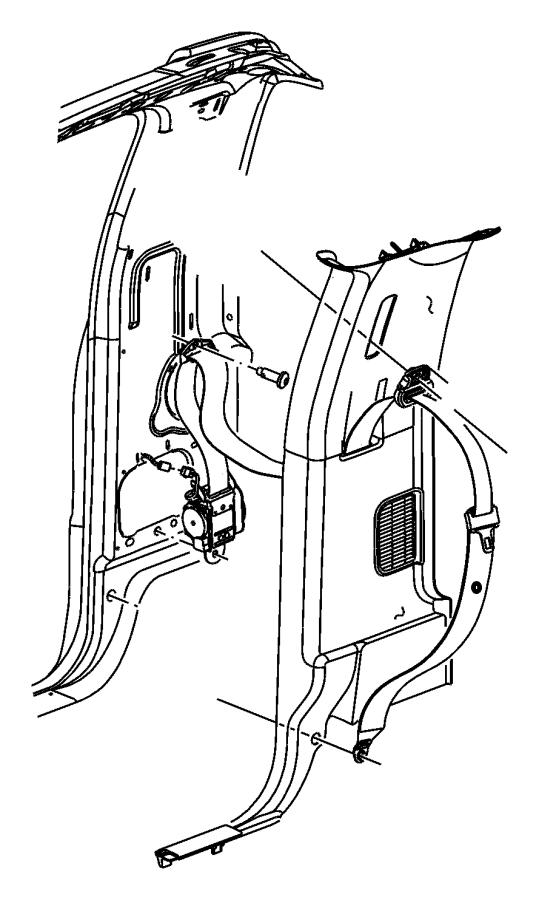 Dodge Ram 1500 Seat belt. Front outer. Right. [dv], [dv
