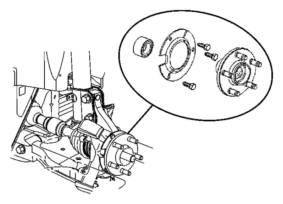 Chrysler PT Cruiser Bearing. Wheel. Right or left. Pch