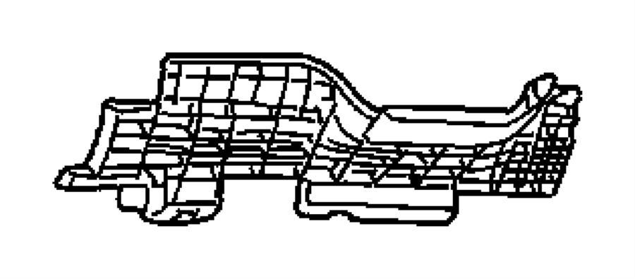 2001 Dodge Caravan Plate. Steering column cover. Panel