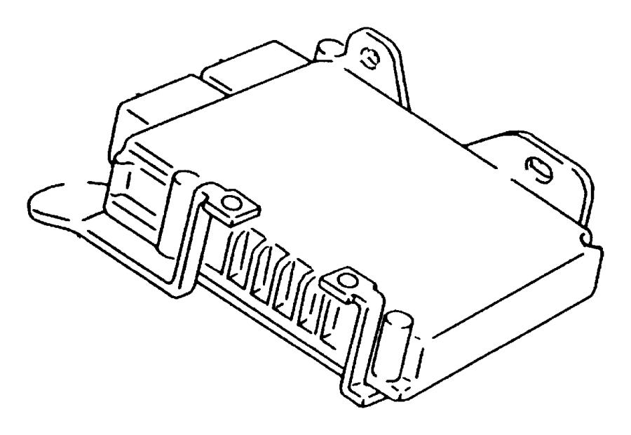 2010 Dodge Avenger Module. Powertrain control. Generic