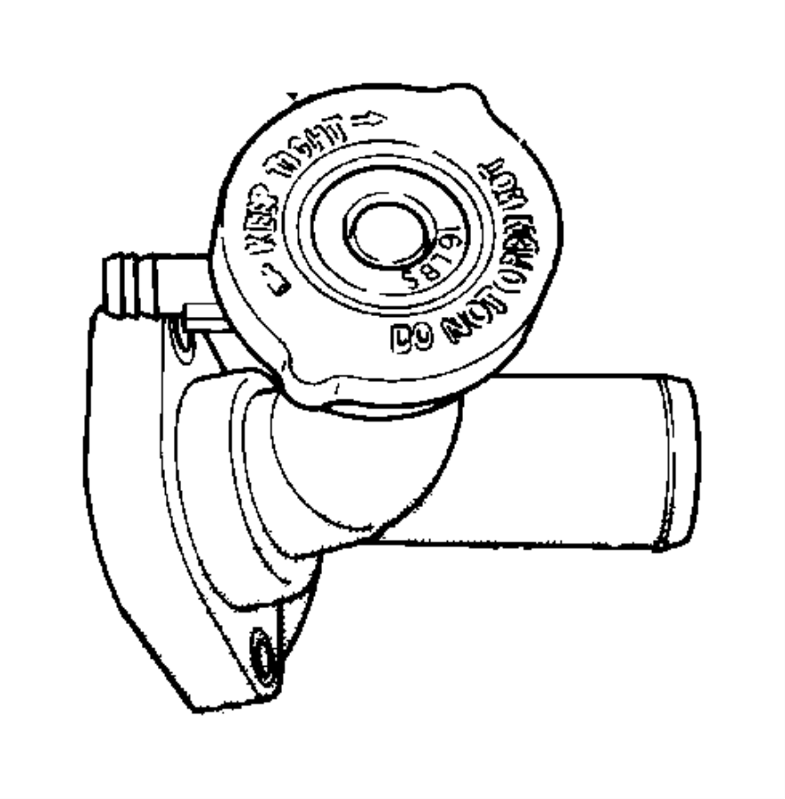 2000 Dodge Neon Connector, fitting. Water outlet. Ulev