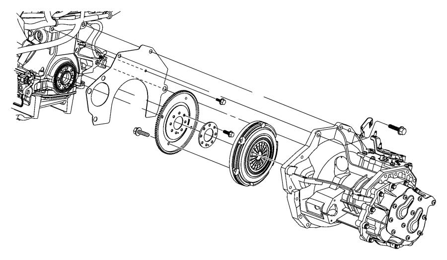 Chrysler Voyager Plate. Drive plate. 52, 53. Modular