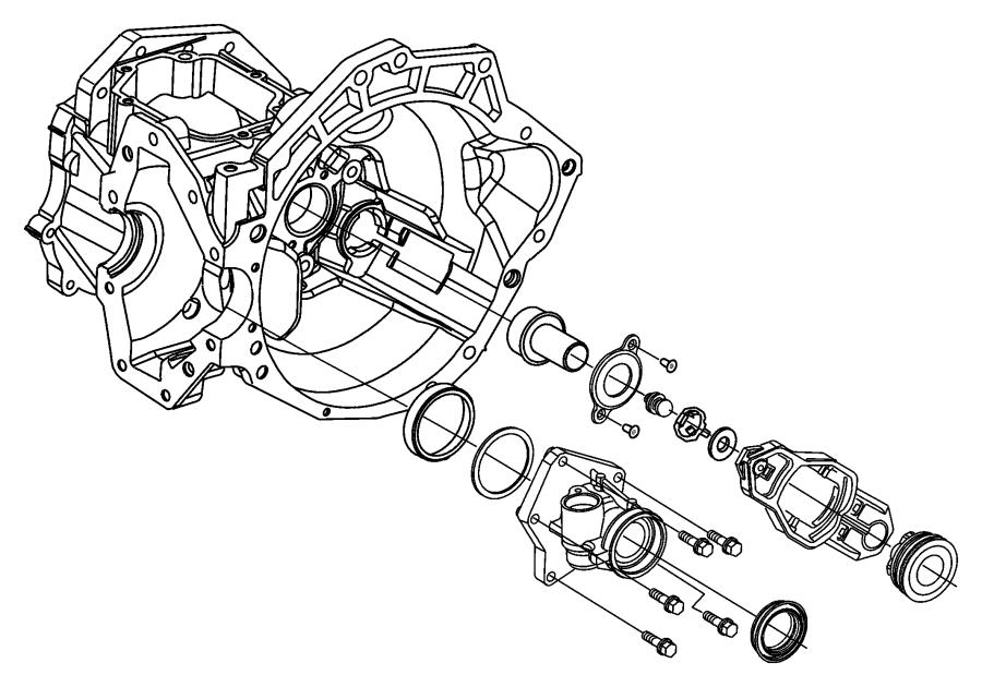 2002 Chrysler Sebring Boot, seal. Clutch release fork