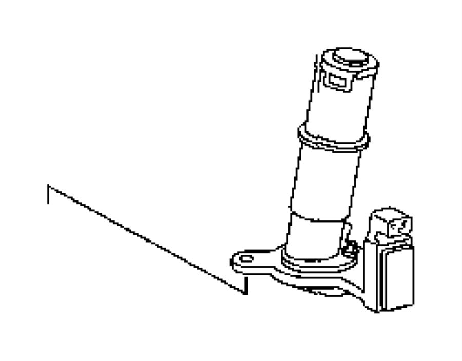 2009 Chrysler PT Cruiser Sensor. Oil pressure. Oil level