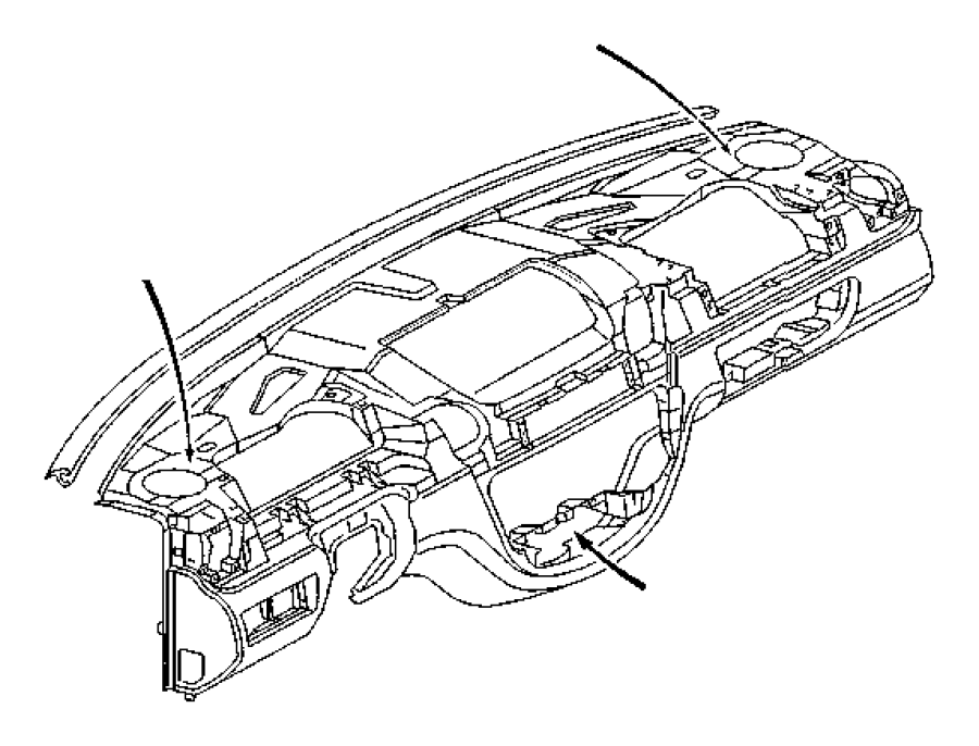 2010 Dodge Ram 3500 Cover. Instrument panel. End cap