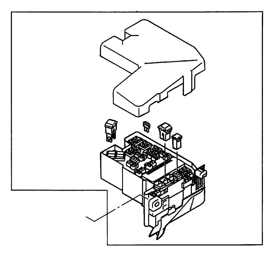 Chrysler Sebring Fuse. Mini. 10 amp, red. Engine