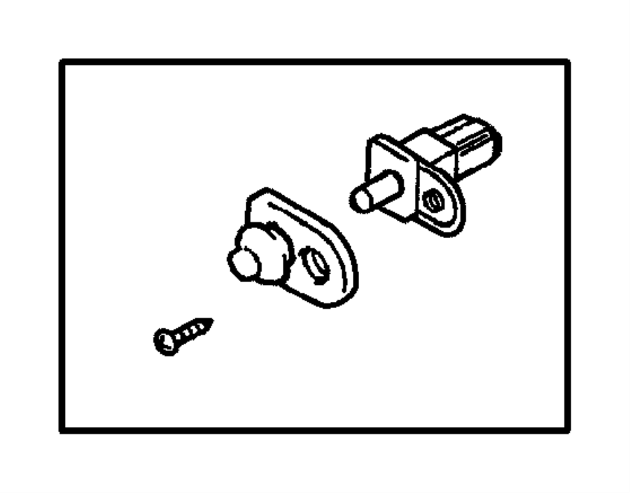 Dodge Stratus Cap. Door lamp switch. Service, engine