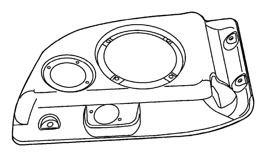 Jeep Wrangler Housing. Speaker. Trim: [all trim codes