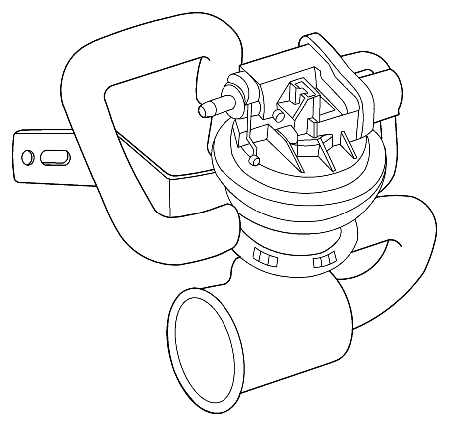 2010 Dodge Viper Bracket. Leak detection pump. [16 gallon