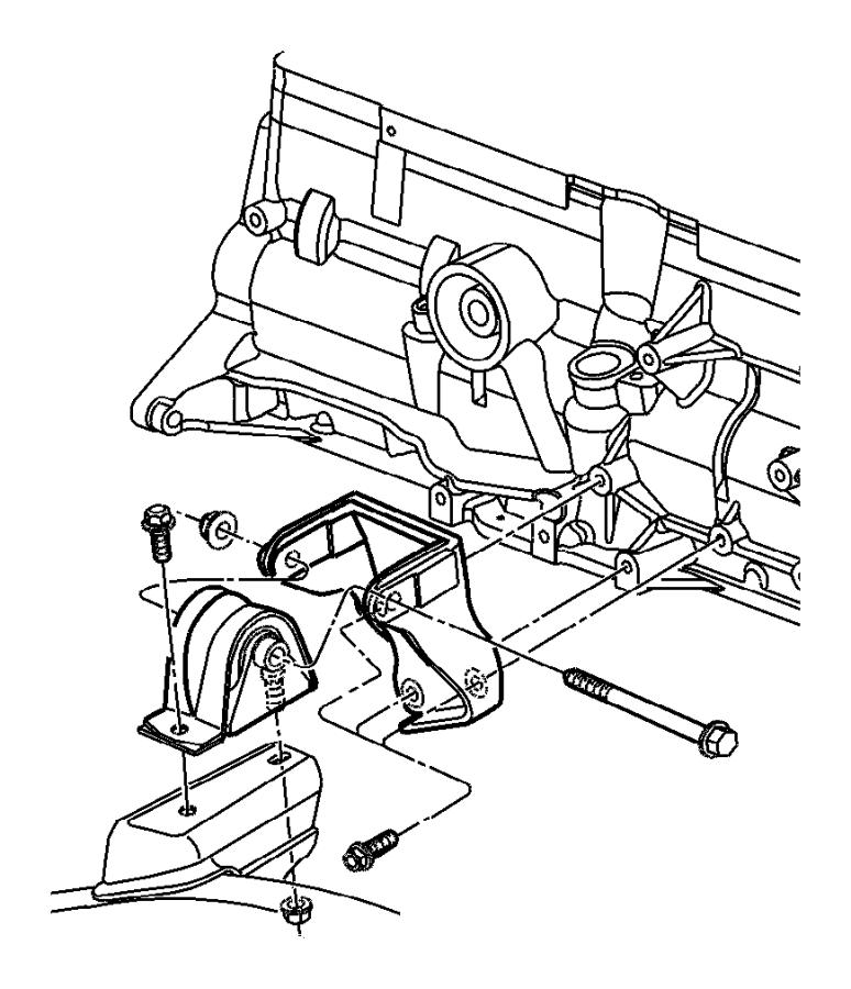 2001 Jeep Wrangler Insulator. Engine mount. Used for