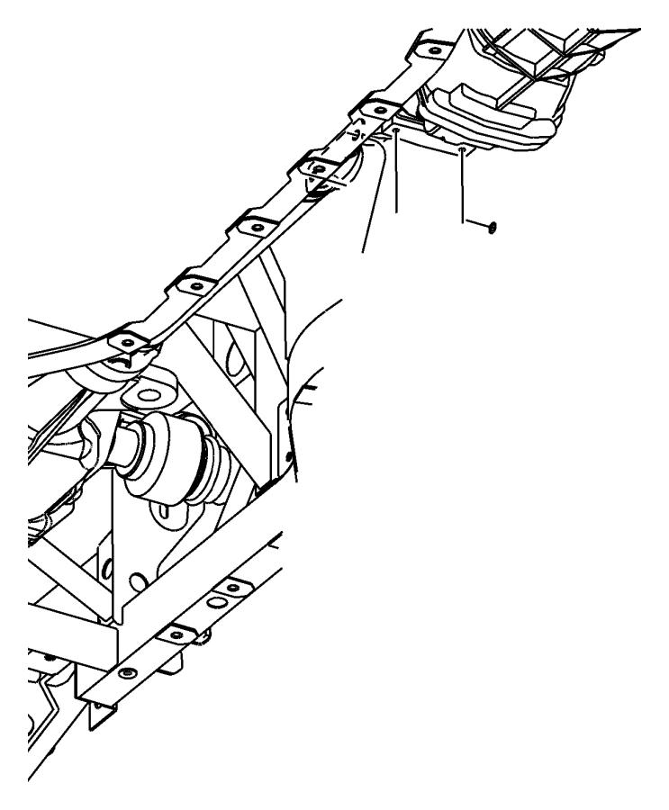 2005 Dodge Viper Crossmember. Transmission. Engine