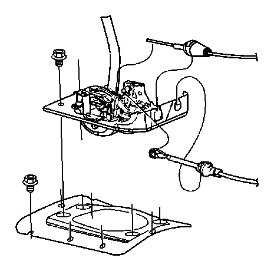2004 Jeep Wrangler Cable. Park interlock. Gearshift