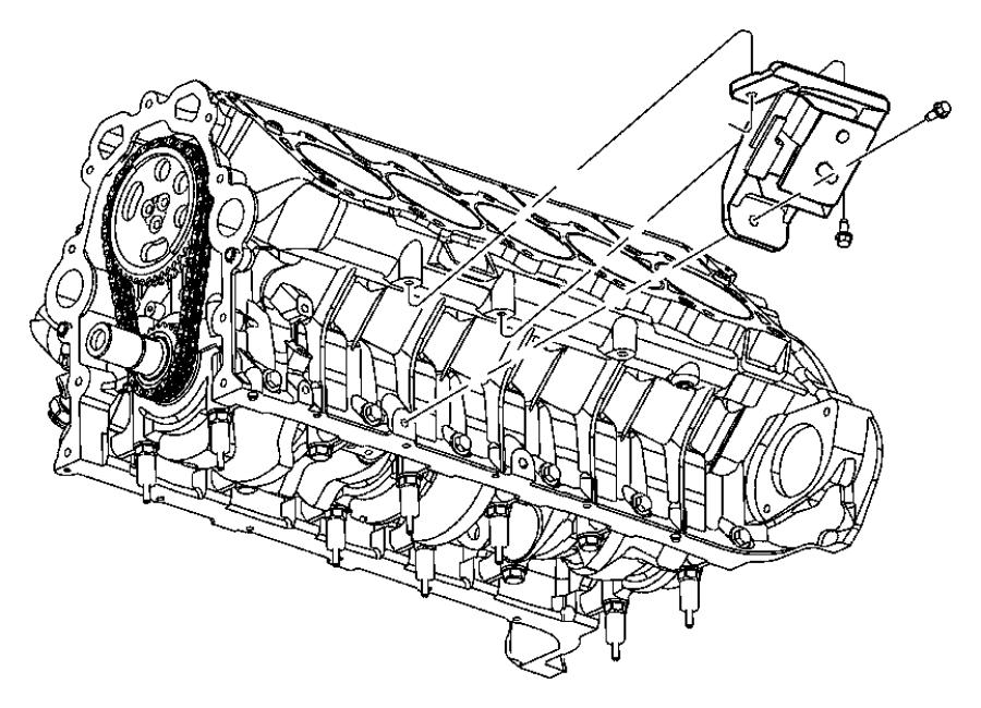 Dodge Viper Insulator. Engine mount. Right, right side