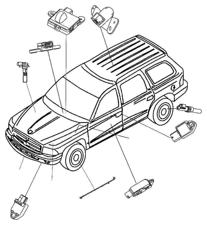2012 Dodge Grand Caravan Sensor. Side airbag impact
